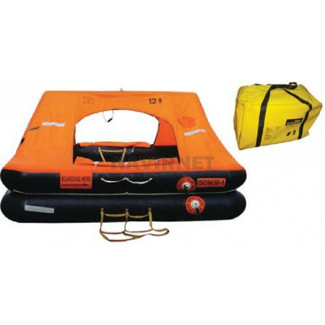 Balsa salvavidas LIFERAFT – 10 P - ISO 9650-1 Maleta blanda