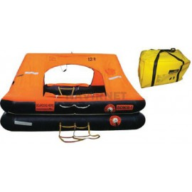 Balsa salvavidas LIFERAFT – 12 P - ISO 9650-1 Maleta blanda